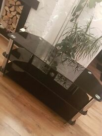 Tv stand glass black heavy 32 to 52 cal