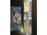 2x Capitals Summertime Ball Tickets (pitch standing)