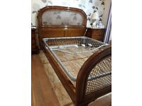 HAND MADE VINTAGE STYLE ITALIAN DOUBLE BED COMPLETE AS PICTURED ALSO GOOD QUALITY MATTRESS ,DELIVERY