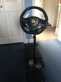 Ferrari steering wheel for a Xbox 360 with foot pedals