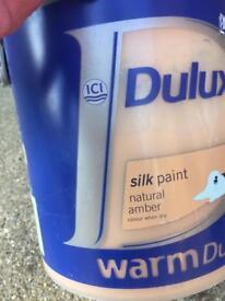Tin of Dulux Silk Paint - new