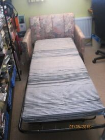 armchair converts to a single bed