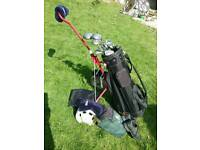 Memphis full set of golf clubs, bag, trolley and shoes