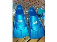 Zoggs Blue Training Fins Size 1