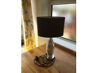 Next Grey/Silver Crackle Lamp
