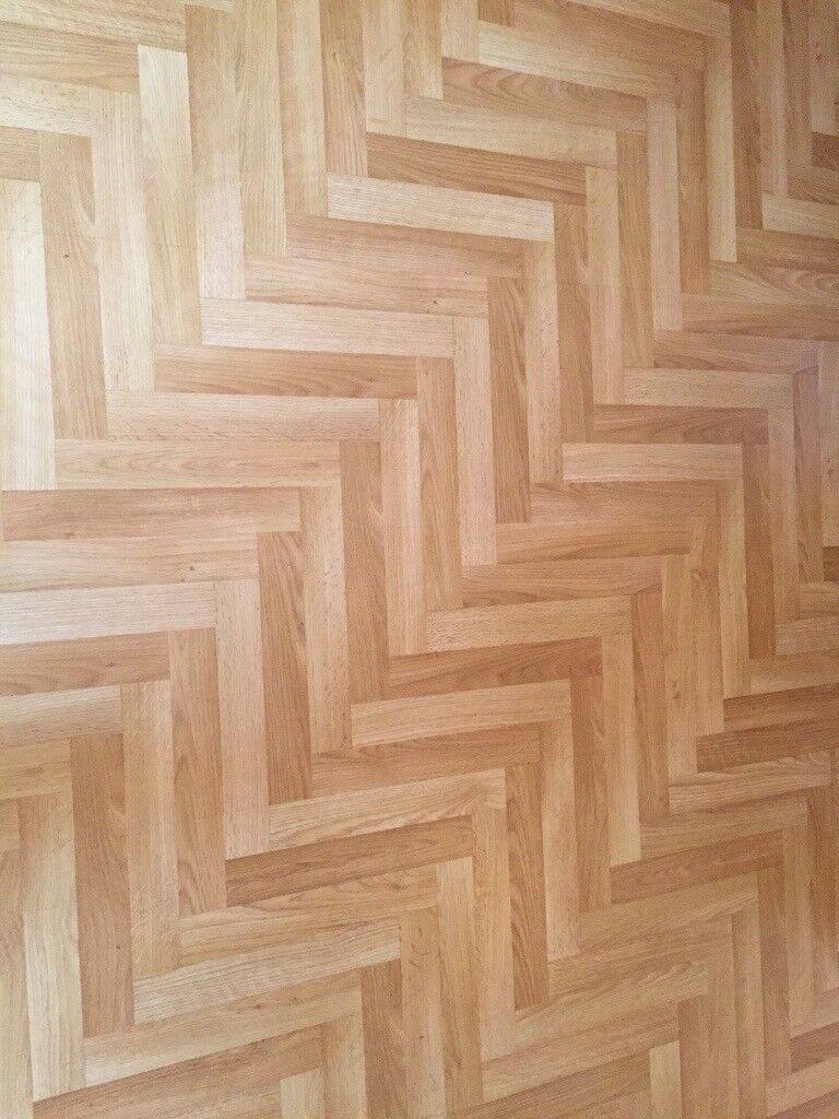 Parquet style laminate flooring