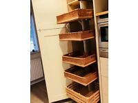 Pull-out Wicker Storage System for Kitchen Unit