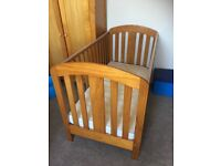 Mamas & Papas cot, wardrobe and chest of drawers with changing table.