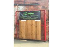 6ft x 6ft Treated Fence Panels £25.50