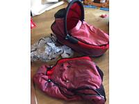 Quinny Buzz Carrycot with rain over, insect net, adaptors and FREE pushchair footmuff!