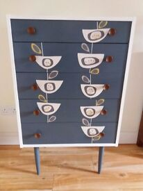 Gorgeous Vintage Retro Style Upcycled Chest of Drawers