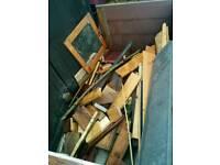 Free sink ! Wicker baskeg and scrap wood
