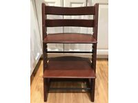 STOKKE TRIPP TRAPP High Chair WALNT - Very Good Condition