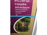 Plum 8ft tramploine with enclouse, brand new in boxes