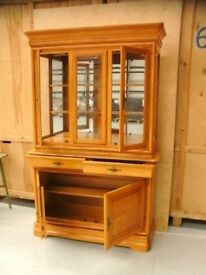 Display Glass cabinet with glass doors