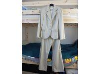 Trouser suit, M&S Petite, Size 10/12, Neutral colour