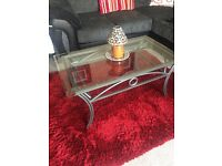 Glass coffee table and 3 nest of tables