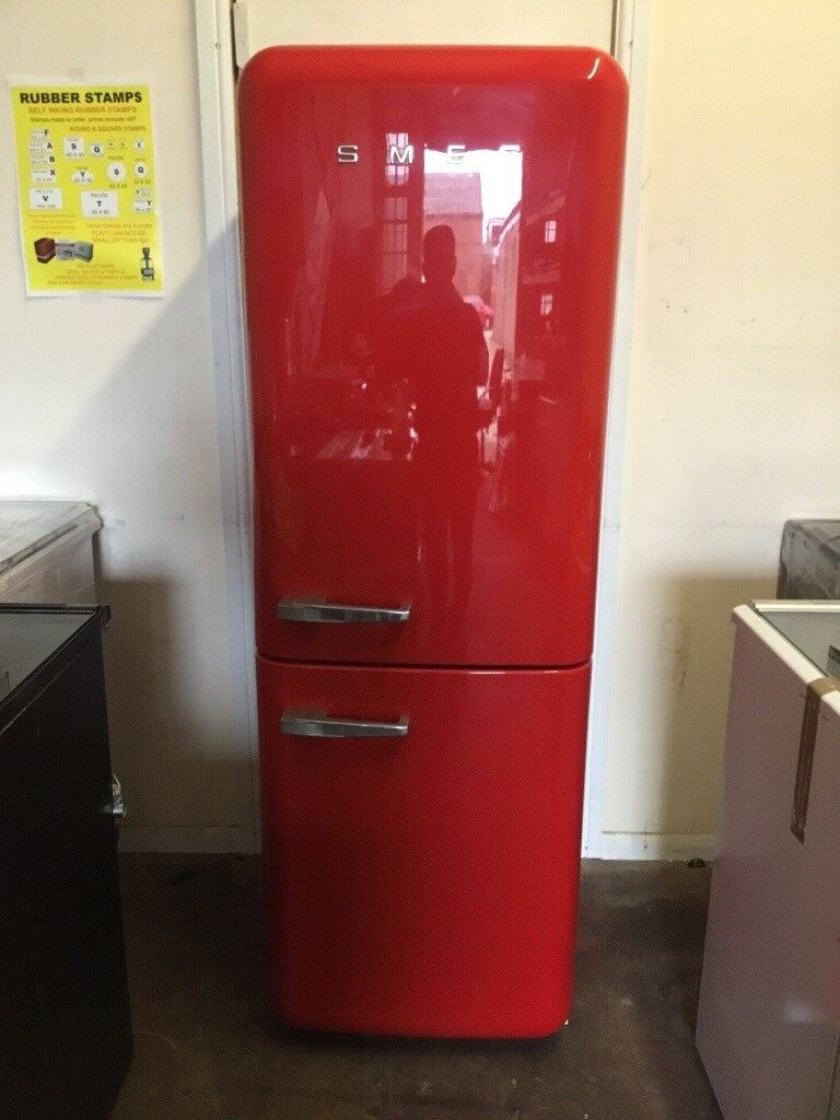 Smeg fridge freezer FAB32QR red 3 months warranty free local delivery!!!!!!