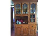 Kitchen or dining room unique and very well made heavy wood dresser, very good condition