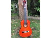 1/2 size Valencia classical guitar + case