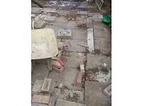 Garden paving / patio concrete slabs free to collector in guildford