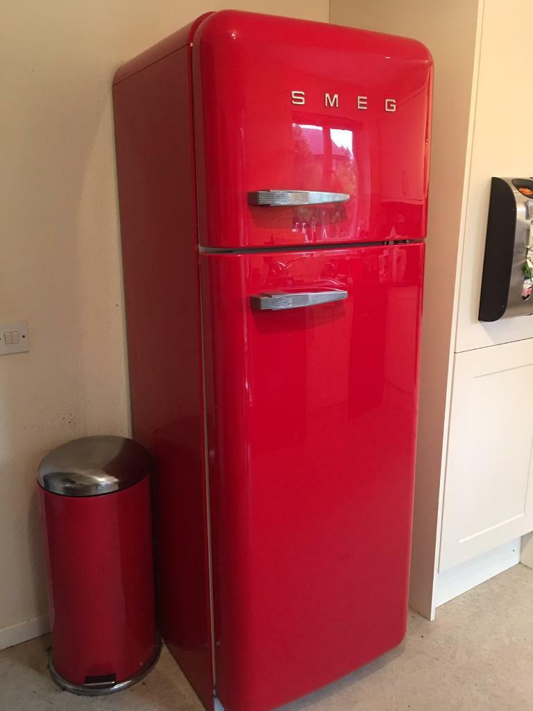 Red Smeg Fridge Freezer With Possible Delivery