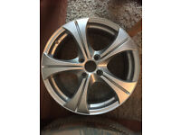 """Wolfrace BRAND NEW 5 spoke Alloy wheels 17"""" inch 4x108 silver alloys wheel 4 x 108"""