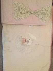 Millie and borris cot/bed duvet and bumper