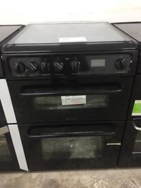 BRAND NEW HOTPOINT BLACK 60CM GAS COOKER WITH OVEN & GRILL
