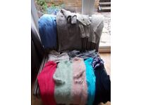 26 items of ladies clothes including dresses, trousers, jacket, tops sizes 8-14