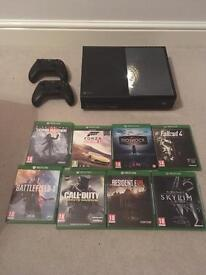 Xbox One Console (1TB Matte Black) w/ 11 Games and 20+ Xbox 360 games