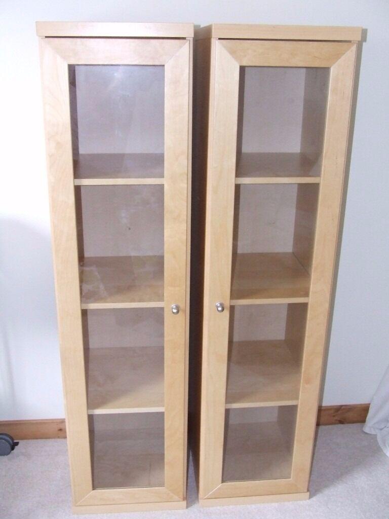 Ikea Bonde Shelf Units With Gl Doors
