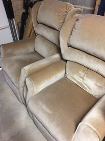 Willowbrook riser reclining chair plus two matching armchairs