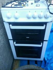 Zanussi freestanding double oven with gas hob