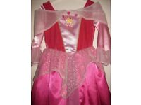 BEAUTIFUL SLEEPING BEAUTY DRESS age 5-7 +HOOP IMMACULATE REDUCED AGAIN £6.50 +free PRINCESS RUCKSACK