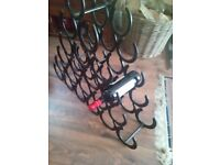 21 bottle horseshoe wine rack