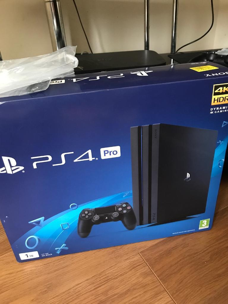 ps4 pro 1tb 5 05 with any 10 games new in box rare receipt sale or
