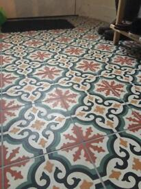 French hand poured encaustic tiles