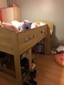 Mid sleeper storage bed