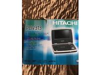 Hitachi DVD player with 7in screen