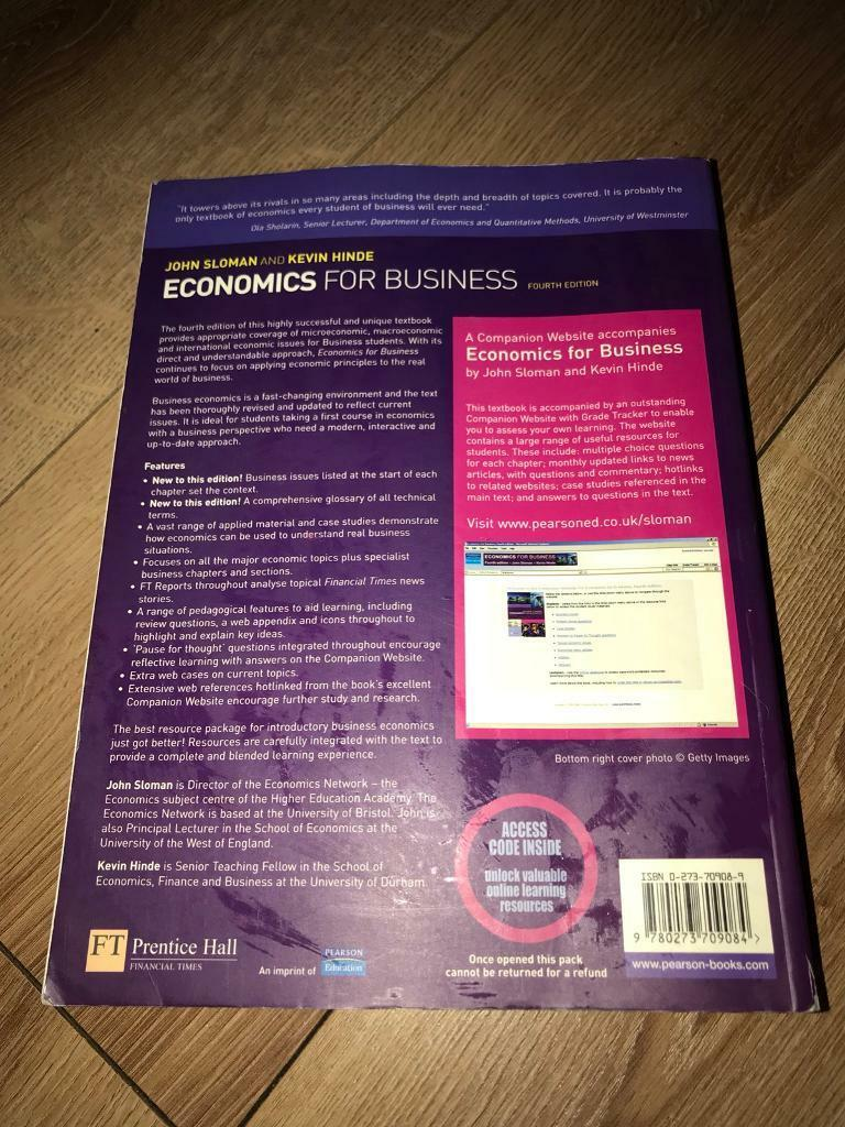 Economics for business University