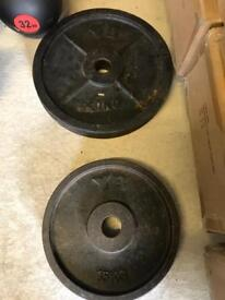 Olympic York Olympic Weight Plates - Black Cast Iron Weights Gym