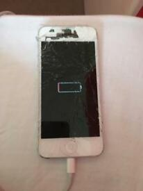 Smashed iPhone 5
