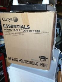 brand new curry,s table top freezer