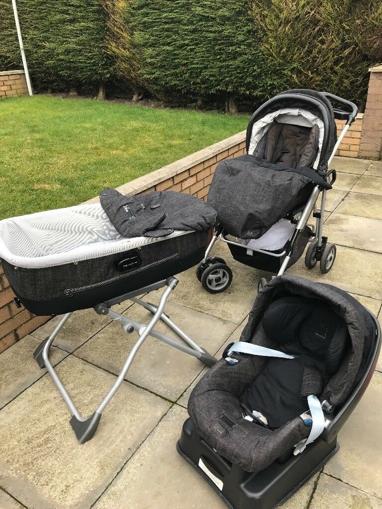Mamas and papas pram (with stand) buggy , car seat , rain cover, net
