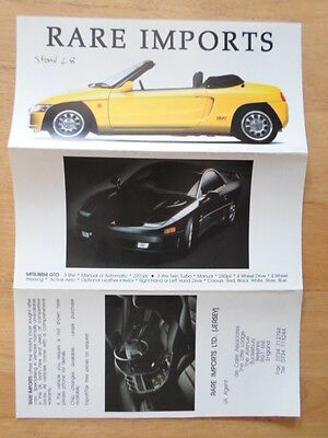 RARE IMPORTS 1992 UK Mkt Brochure - Honda Beat Nissan Figaro S Cargo Toyota Sera