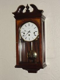 COMITTI of London Mahogany Cased Wall Clock - excellent condition