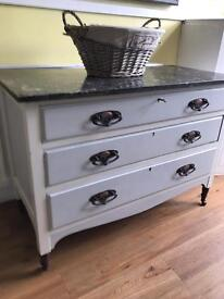 Antique Solid Oak Chest of Drawers /Dresser