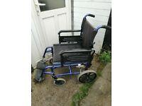 wheelchair . aluminium lightweight folding wheelchair good condition.