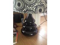 Lovely big black & white lamp